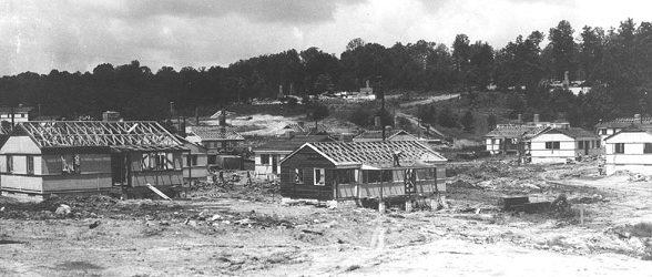 Строительство жилых домиков в Ок-Ридж. 1942 г.