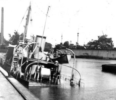 Затопленные корабли.