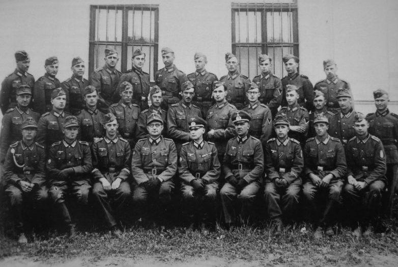 Личный состав комендатуры в оккупированном немецкими войсками городе Белая Церковь. Август 1941 г.