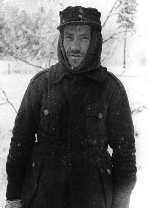 Финский военнопленный в Грязовецком лагере военнопленных. 1940 г.