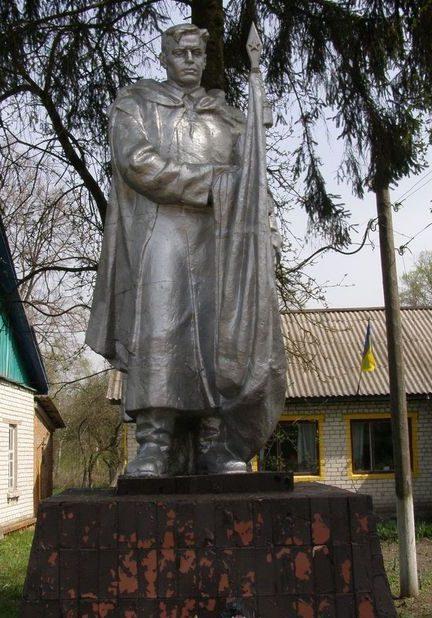 с. Великий Листвен Городнянского р-на. Памятник, установленный в 1955 году на могиле неизвестного воина.