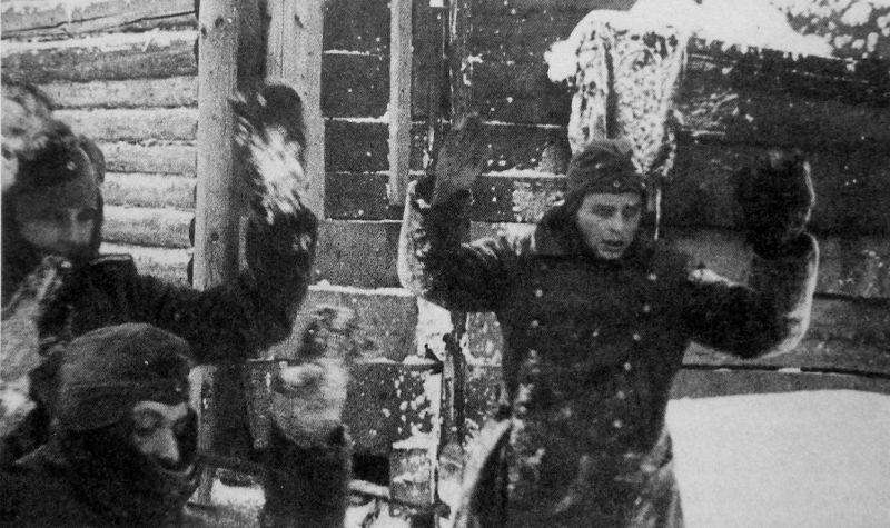 Немецкие военнопленные под Москвой. 1941 г.