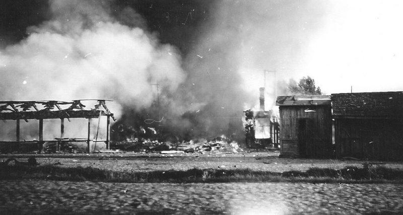 Пожары в городе. Июль 1941 г.