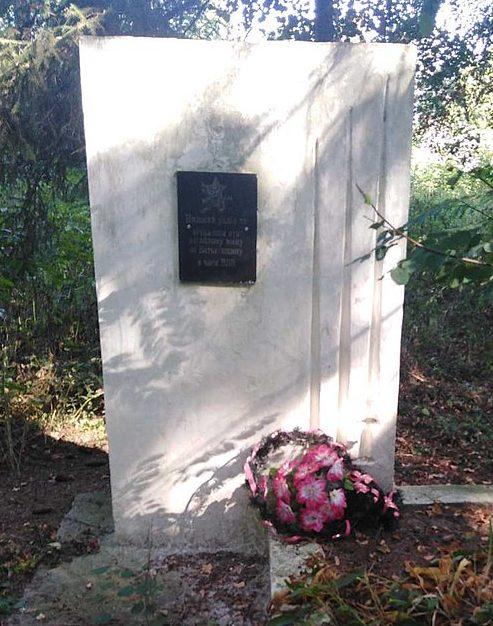 с. Ведмеже Роменского р-на. Братская могила советских воинов на кладбище.