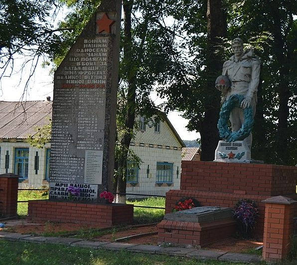 с. Великие Будки Роменского р-на. Памятник, установленный на братской могиле советских воинов и стела воинам-землякам.