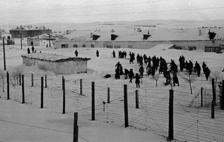 Лагерь для военнопленных. 1941 г.