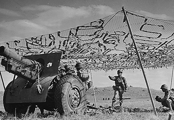 155-миллиметровую гаубица. Апрель 1943 г.