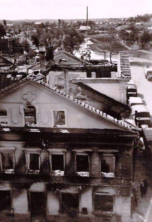 Бывший дом Вяземских во время оккупации. 1941 г.