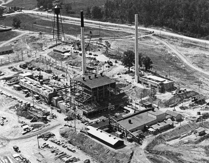Комплекс зданий графитового реактора Х-10. 1943 г.