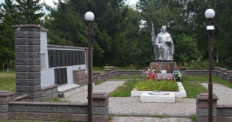 с. Волошновка Роменского р-на. Братская могила советских воинов и памятник воинам-землякам.