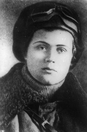 Штурман Женя Руднева. 1942 г.