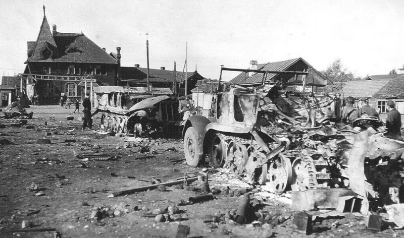 Базарная площадь. Сентябрь 1941 г.