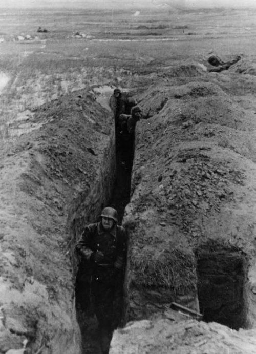 Немецкие траншеи в районе Невеля. 1943 г.