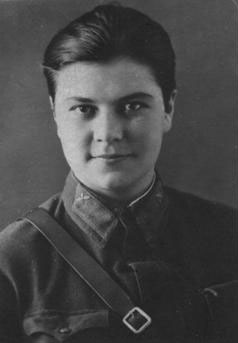 Штурман 46-го авиаполка Свистунова Лидия. 1942 г.