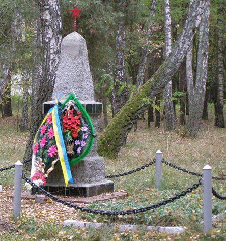 г. Чернигов. Могилы неизвестных воинов, умерших от ран в полевом госпитале в августе-сентябре 1941 году.