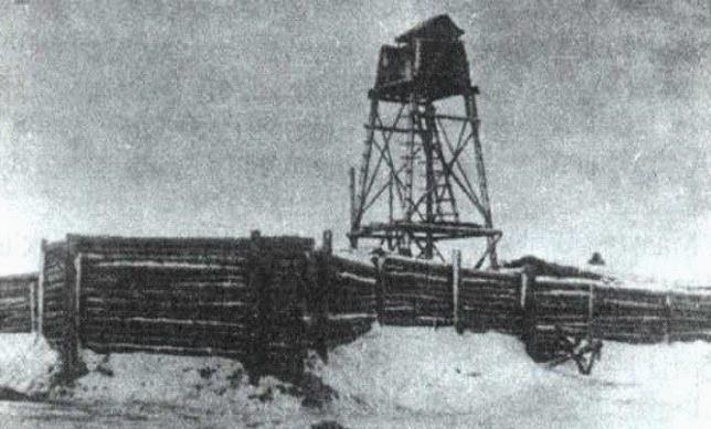 Укрепление, построенное немцами на подступах к Мозырю. 1943 г.