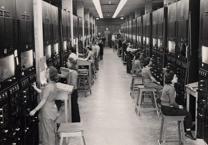 Операторы исследовательского комплекса Y-12. 1944 г.
