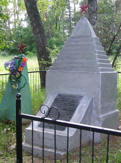 с. Долгое Городнянского р-на. Братская могила воинов, погибших при освобождении села.