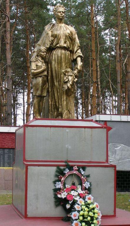 Памятник на братской могиле мирных жителей.