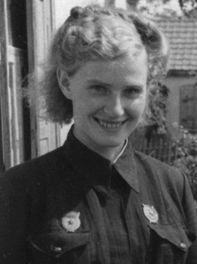 Вера Тихомирова - заместитель командира эскадрильи 46-го авиаполка.