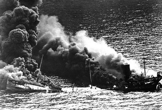 Гибель лесовоза «Ижора» из состава конвоя QP-8. Март 1942 г.
