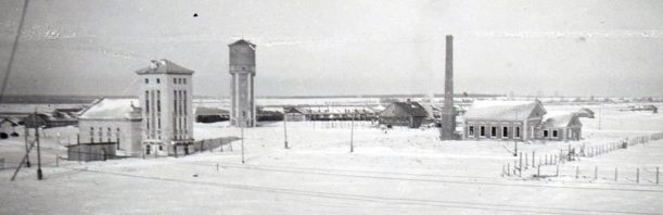 Водонапорная башня танкового городка. 1942 г.