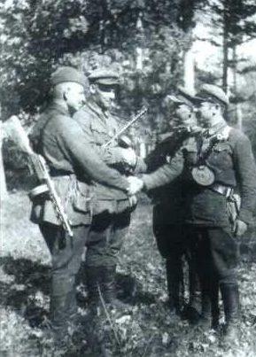 Партизаны, действовавшие в районе Мозыря. 1943 г.