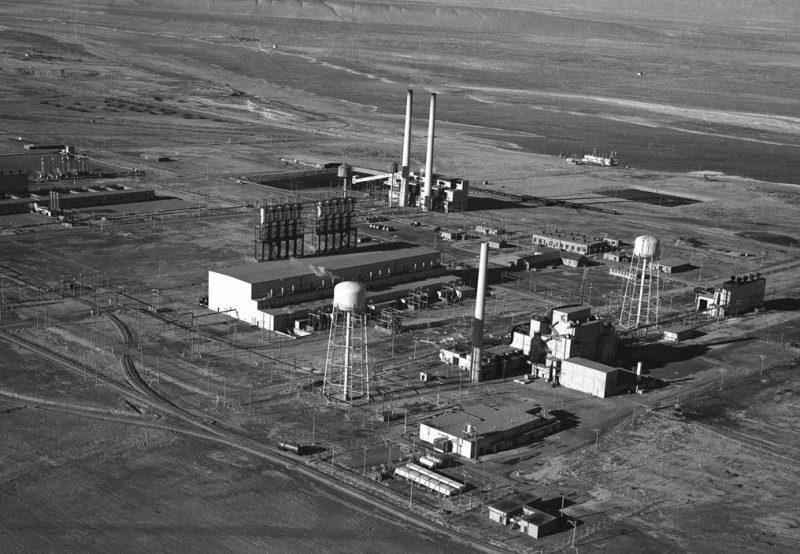 Общий вид реактора «В» в Хэнфорде. 1944 г.