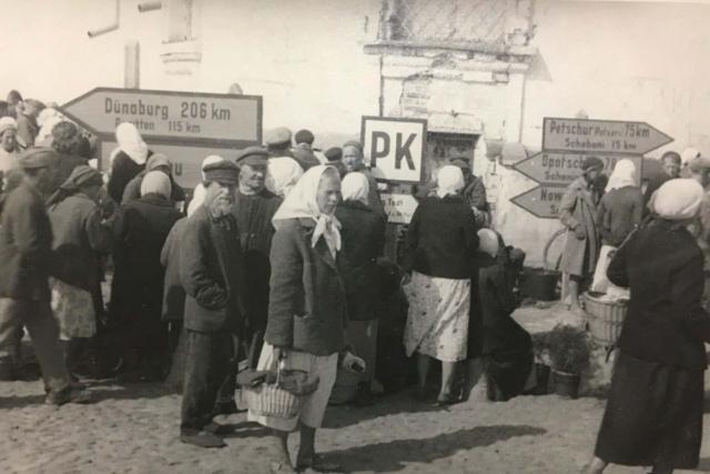 Городской рынок. 1942 г.