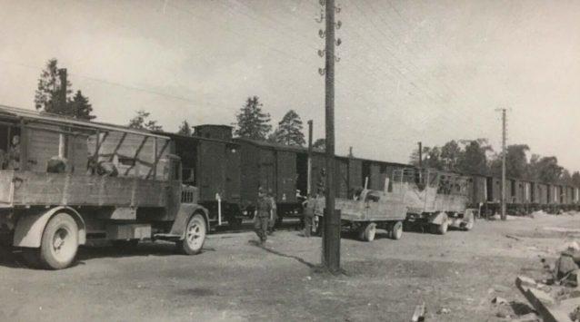 Железнодорожная станция. 1942 г.