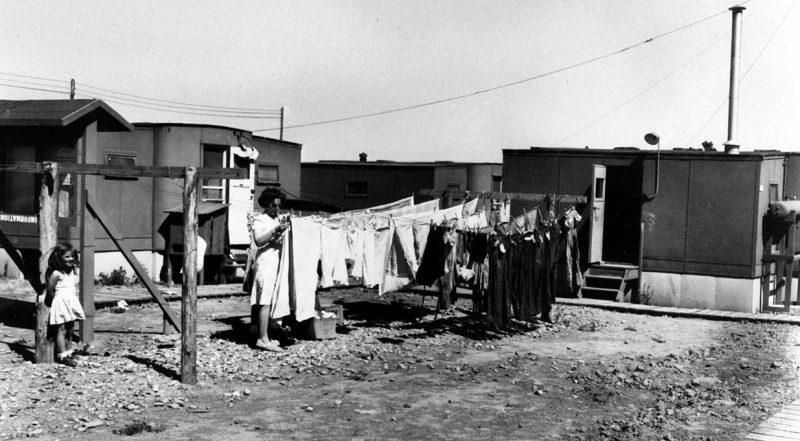 Городок ученых в Лос-Аламосе, Нью-Мексико. 1945 г.