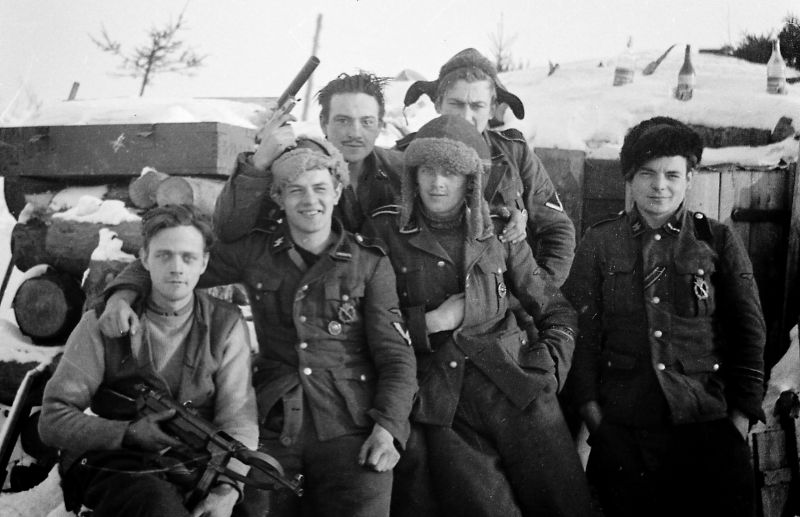 Военнослужащие Датского добровольческого корпуса СС «Данмарк». Январь 1943 г.