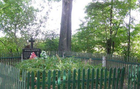 с. Тиница Бахмачского р-на. Братская могила мирных жителей, казненных немцами в феврале 1942 года.