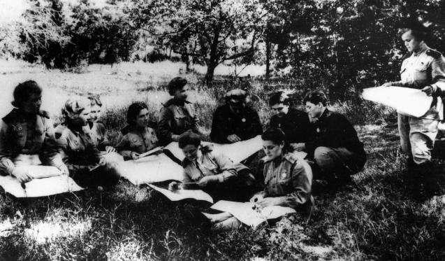 Штурманские занятия. 1943 г.