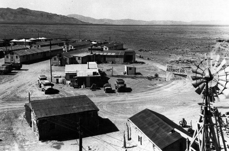 Лагерь испытателей атомной бомбы на полигоне Аламогордо.1945 г.