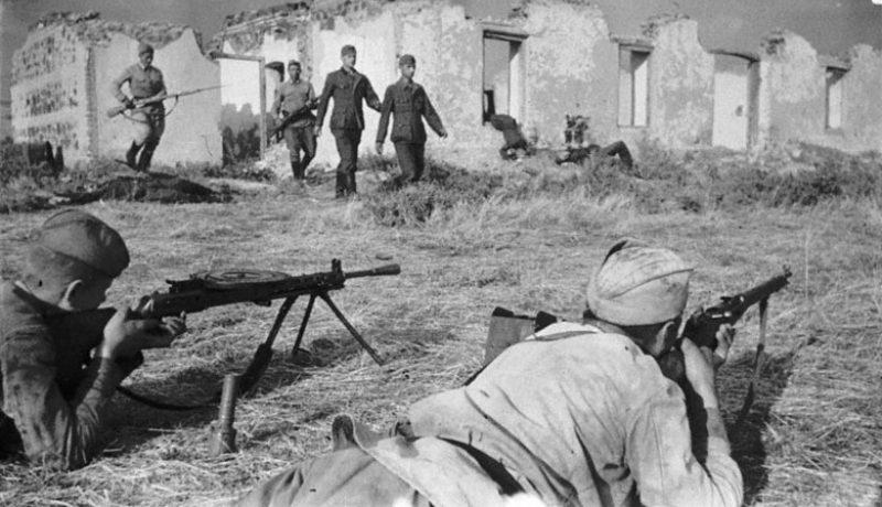 Пленение немецких солдат. 1942 г.
