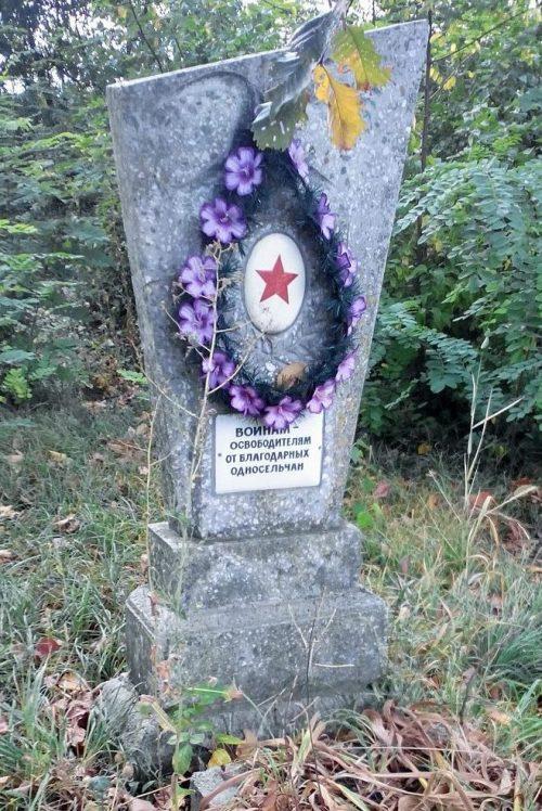 с. Луценково Роменского р-на. Могила советского воина на кладбище.