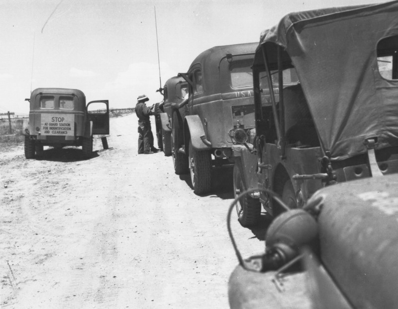Посты охраны полигона Аламогордо. 1945 г.