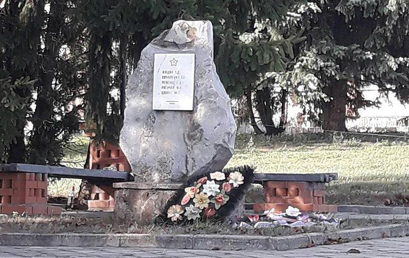 с. Саи Липоводолинского р-на. Братская могила партизан на кладбище.