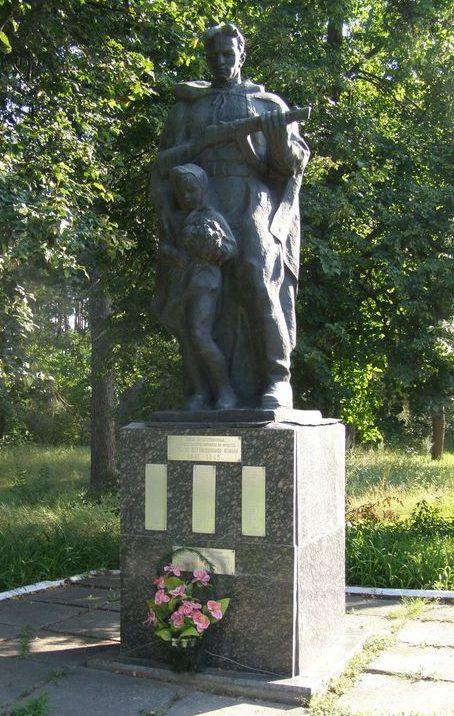 с. Москалевка Роменского р-на. Памятник погибшим односельчанам.