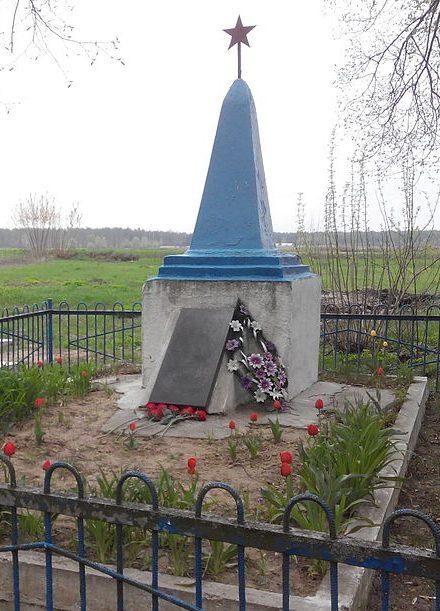 с. Ображиевка Шосткинского р-на. Братская могила советских воинов на кладбище.