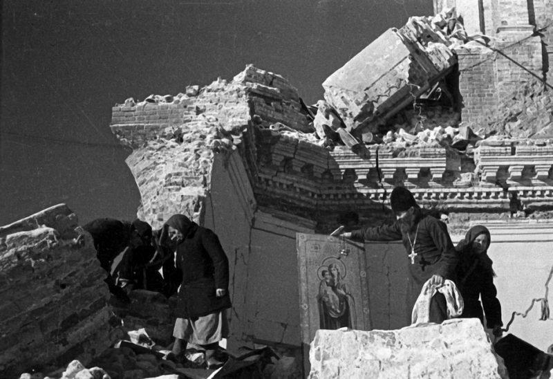 Расчистка завалов. 1943 г.