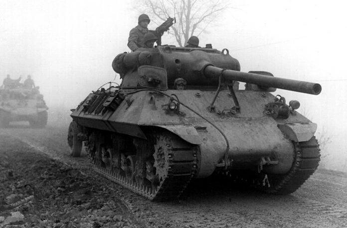 САУ М36 «Джексон» в предместье Вербомон, Бельгия. Декабрь 1944 г.