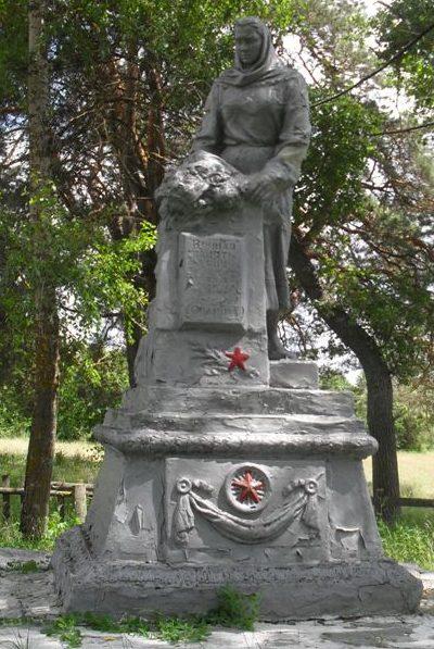с. Свирж Шосткинского р-на. Памятник, установленный на братской могиле советских воинов.