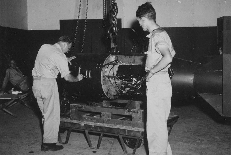 Тестирование атомной бомбы «Малыш». Июль 1945 г.