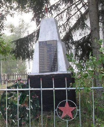с. Боровичи Середино-Будского р-на. Братская могила советских воинов.