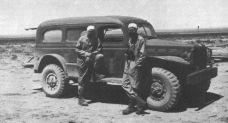 Персонал полигона в защитной одежде. Август 1945 г.