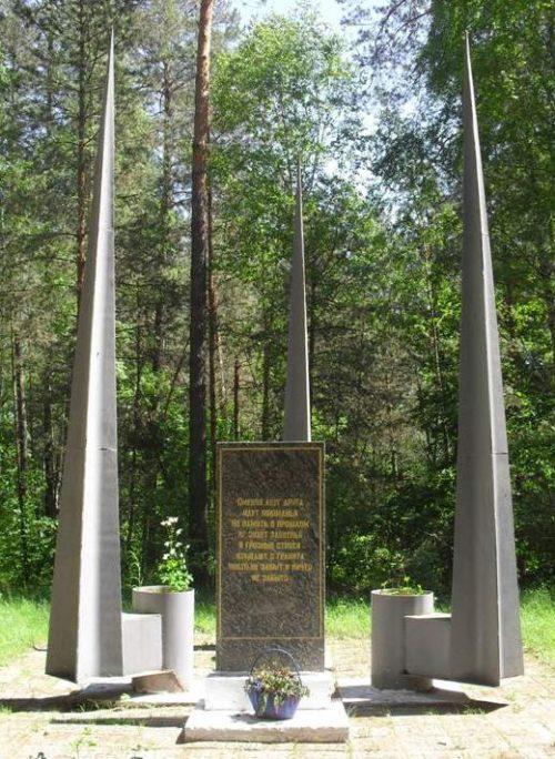 с. Белица Ямпольского р-на. Братская могила советских воинов.