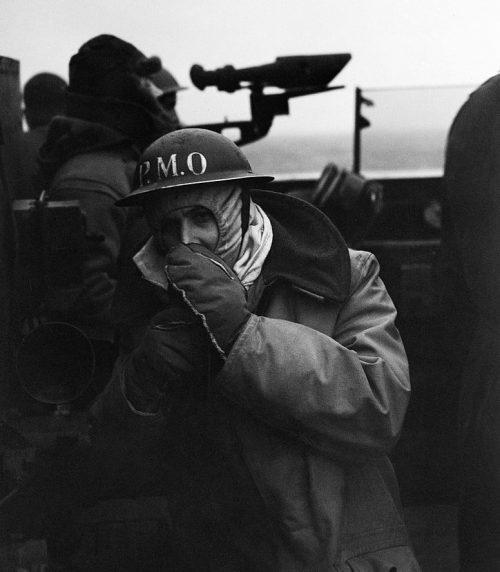 На мостике HMS «Bellona». Конвой JW-64. Март 1945 г.