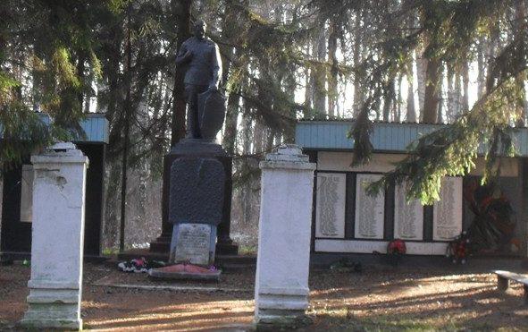с. Орловка Ямпольского р-на. Памятник, установленный в 1967 году на братской могиле, в которой похоронено 12 советских воинов и 7 партизан, погибших при освобождении села в сентябре 1943 года.